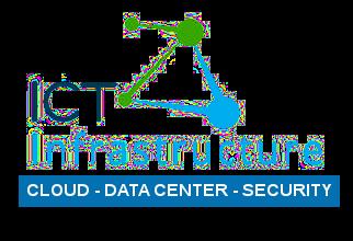Logo ICT Infrastructure vert/bleu