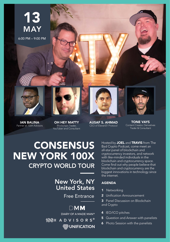 Consensus NYC 100X Crypto World Tour
