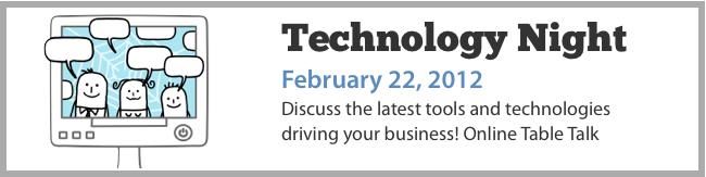 Technology Night - Table Talk
