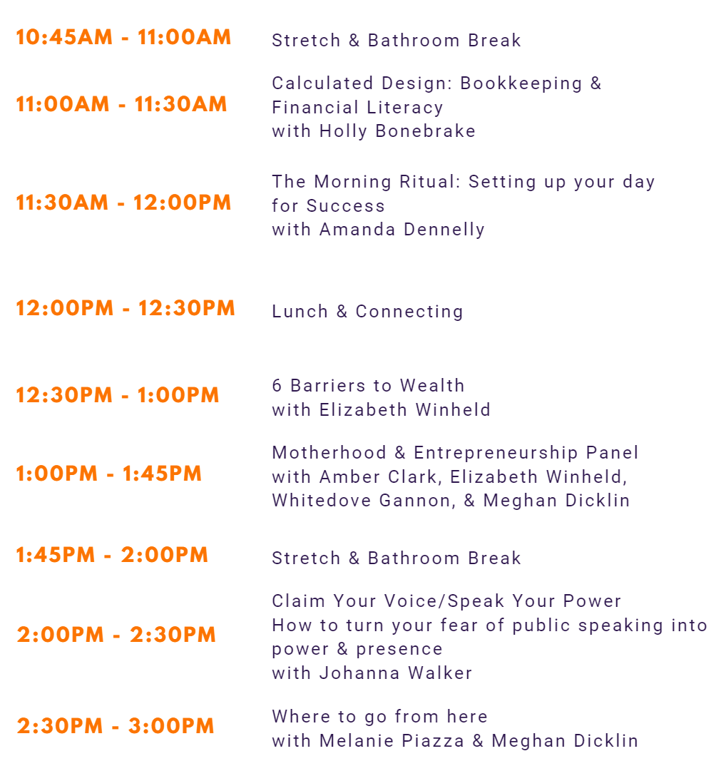 Roots and Wings Conference Schedule 2