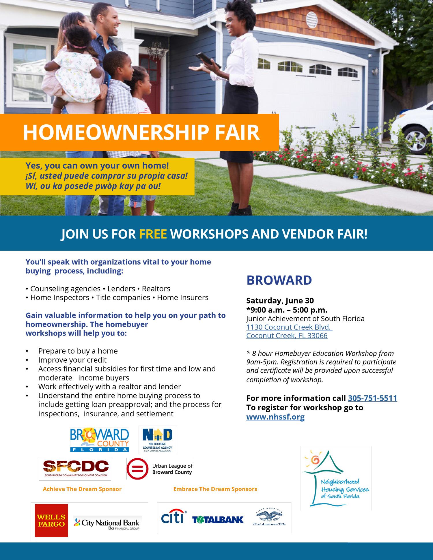 Homeownership Fair Broward 6-30-18