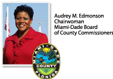 logo of Audrey M. Edmonson - Chairwoman of Miami-Dade Board of County Commissioners