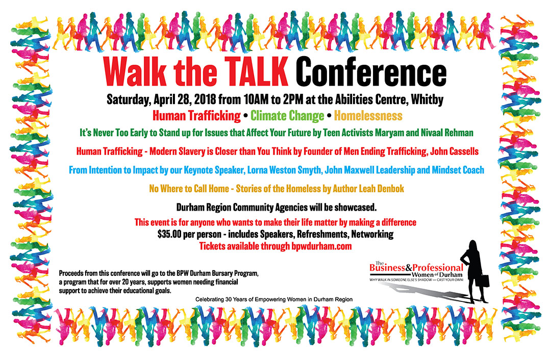 Walk the TALK Conference April 28th Abilities Centre Whitby Ontario