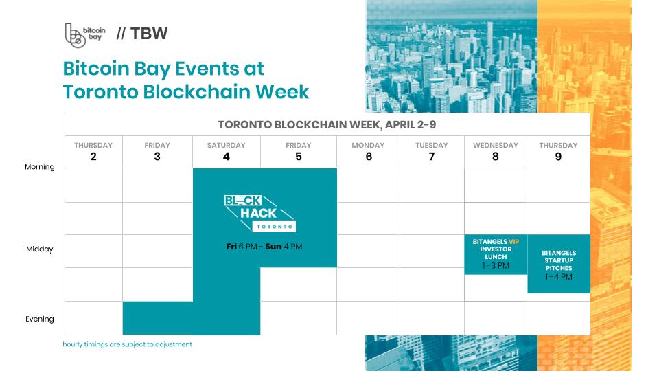 Bitcoin Bay is in Toronto Blockchain Week 2020