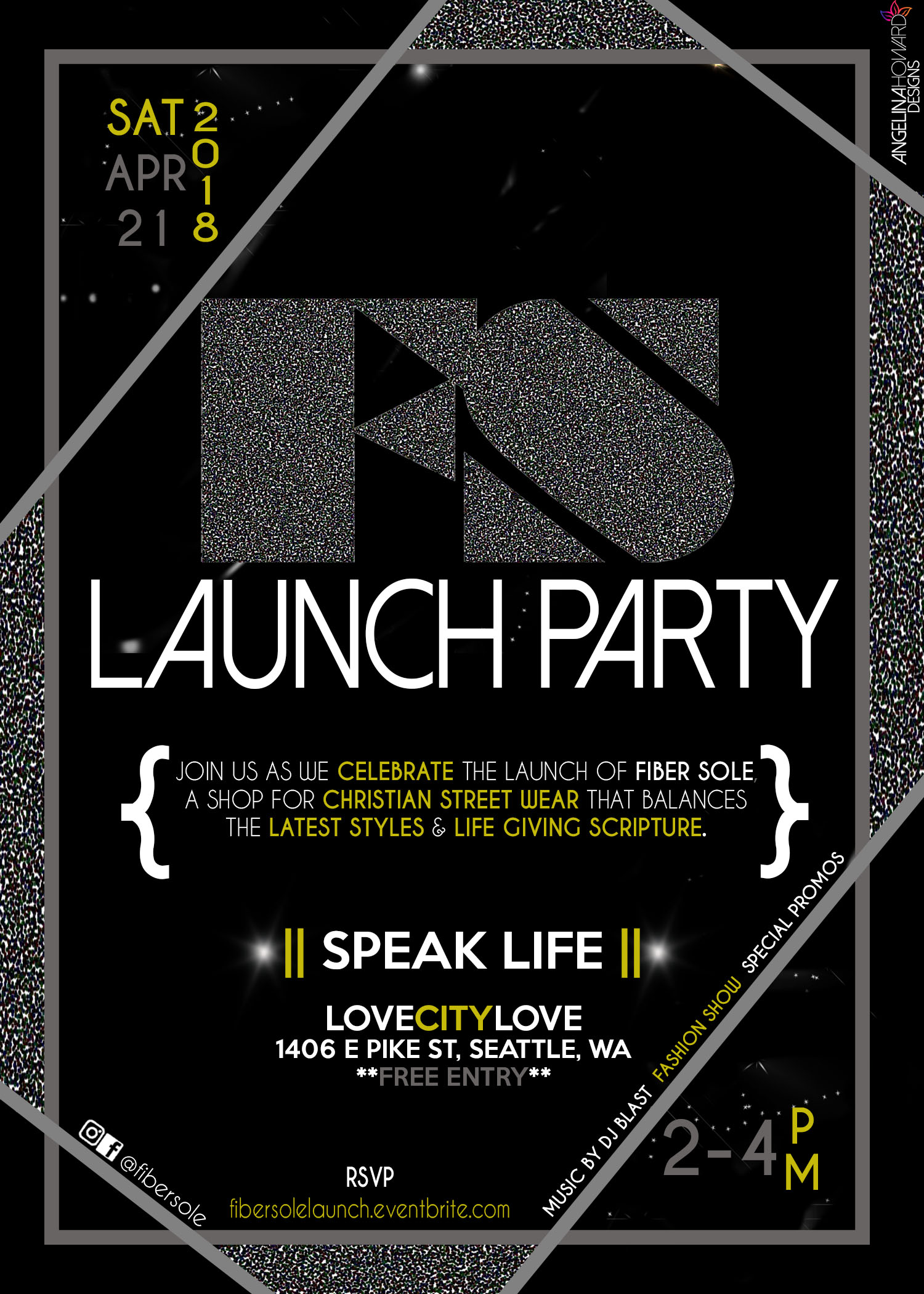 Fiber Sole Launch Party Flyer