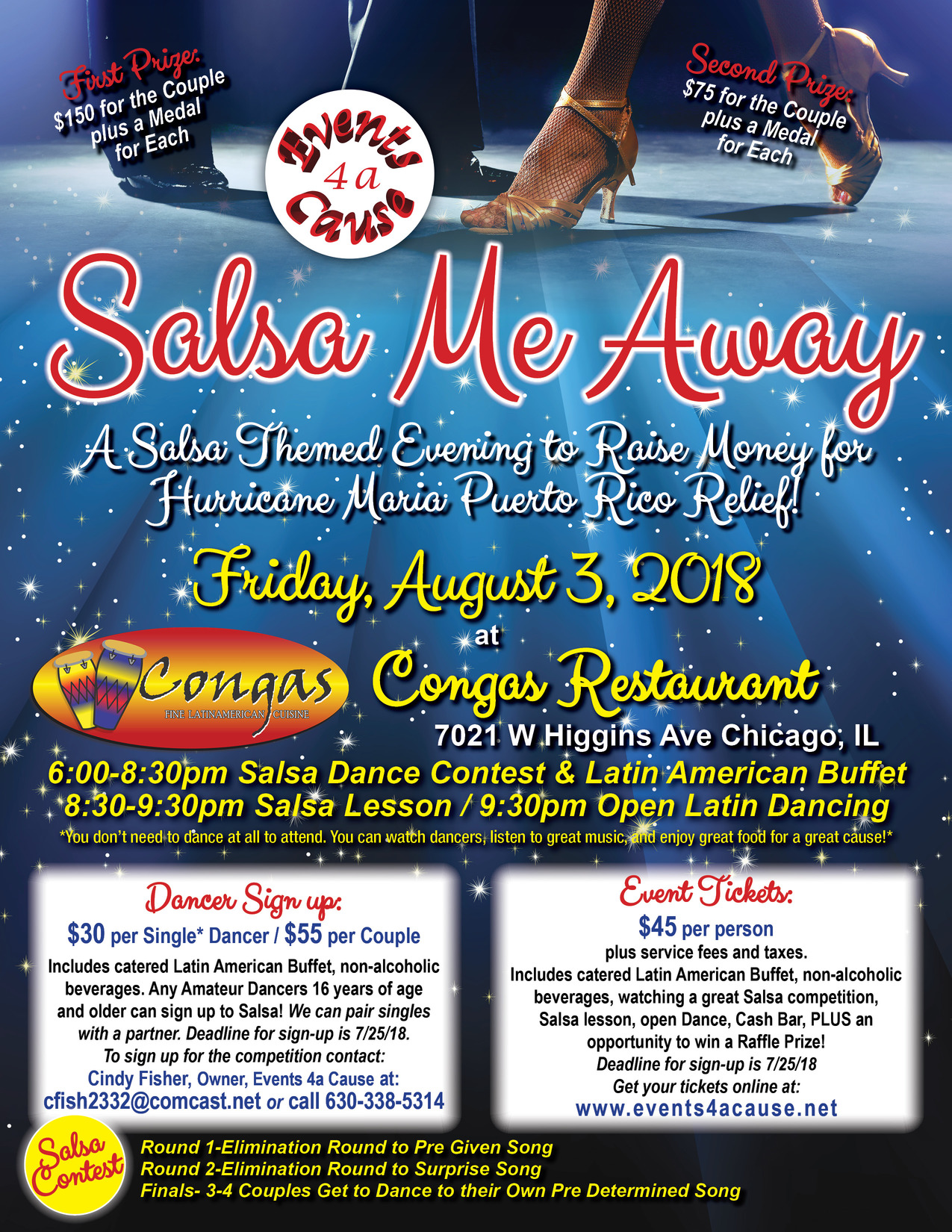 Salsa Me Away Event Flyer