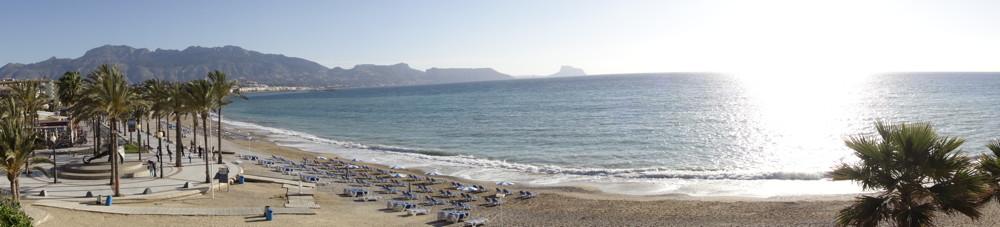 Strandpromenade in Albir