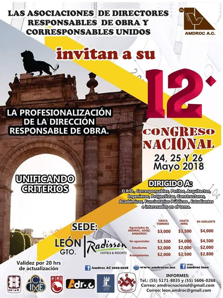 12 CONGRESO NACIONAL AMDROC 12