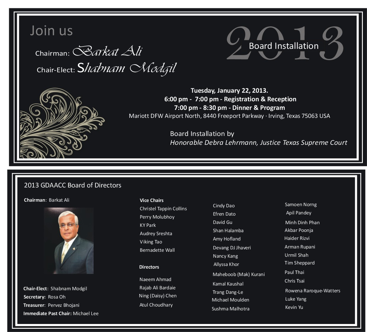 Install invitation with board list 2013