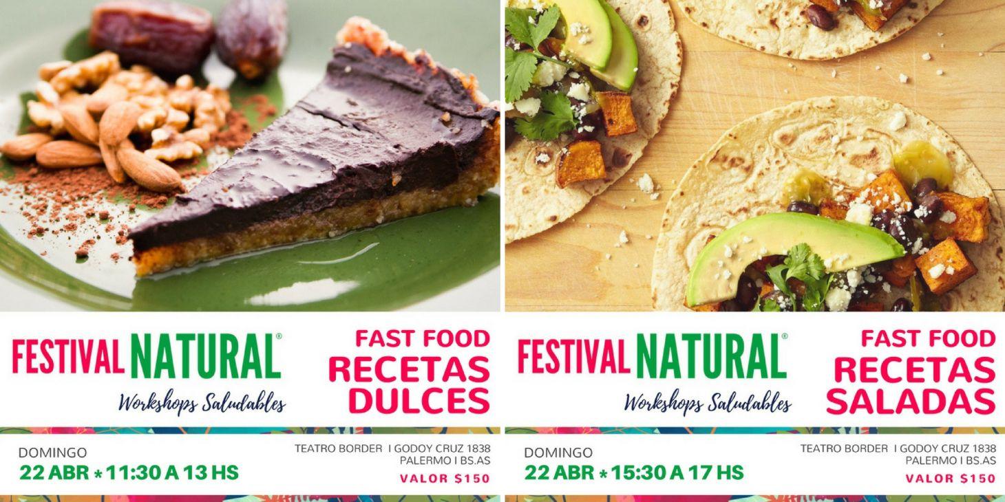 flyer workshops fast food saludablle