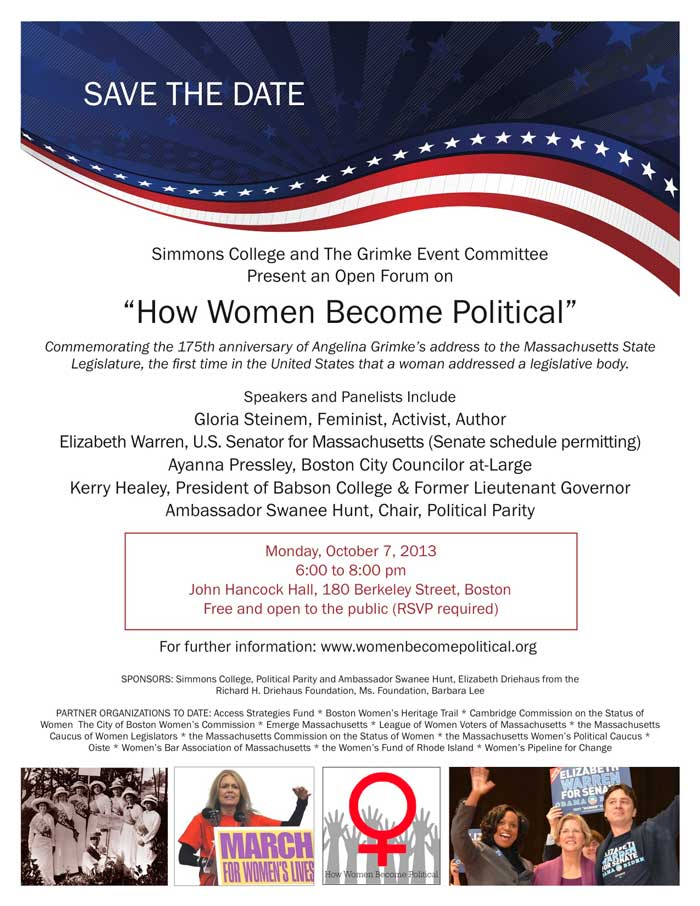Oct 7 Save the Date Image for How Women Become Political