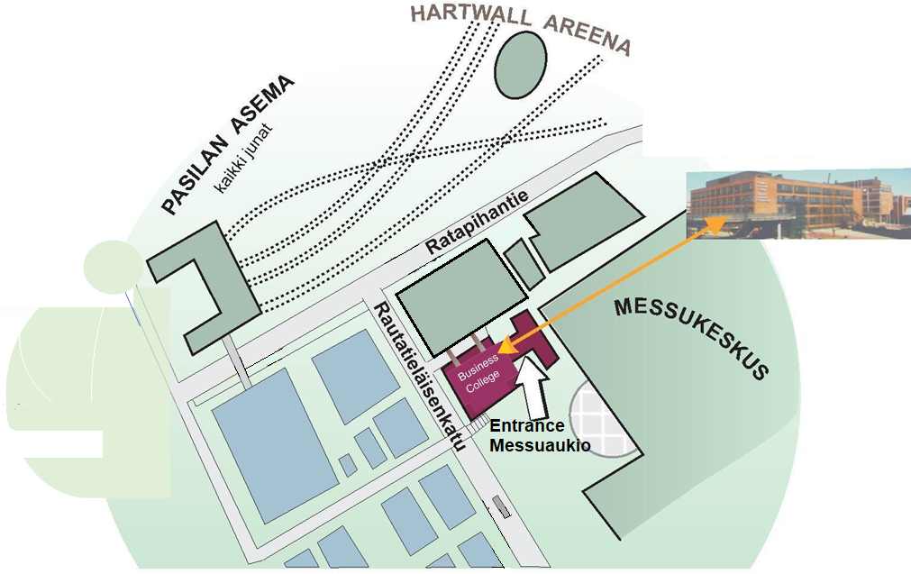 Business College Helsinki is adjacent to the EIAE venue, use entrance Messuaukio–see map below