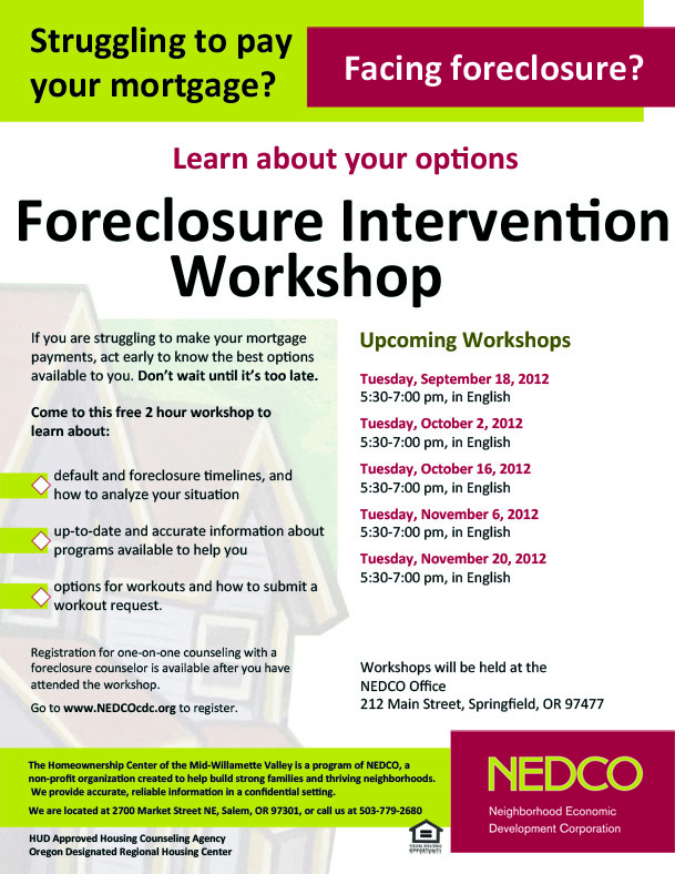 foreclosure intervention lane cty
