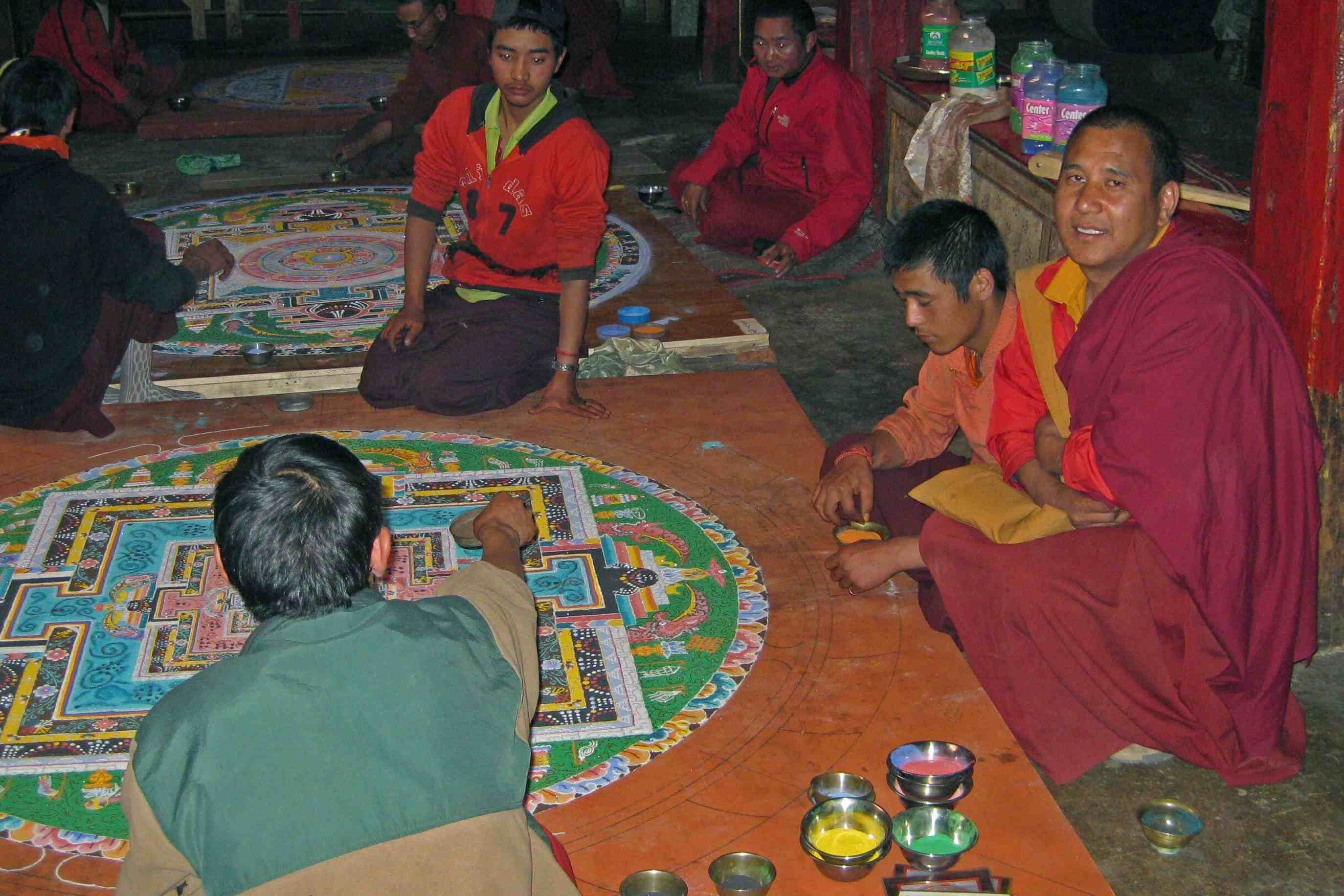 Druk Mandala with Monks