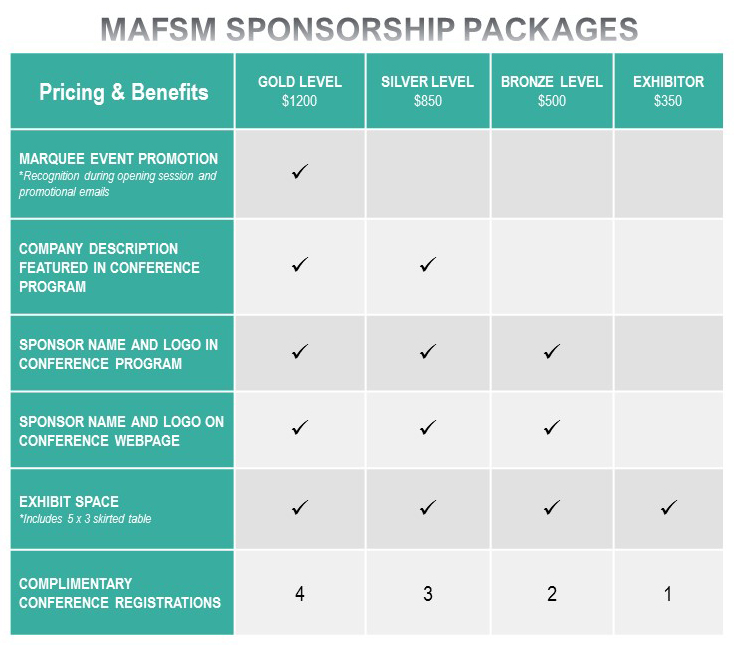 MAFSM Sponsorship Options