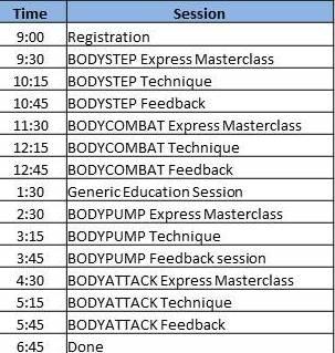 Bridgewater GW Schedule
