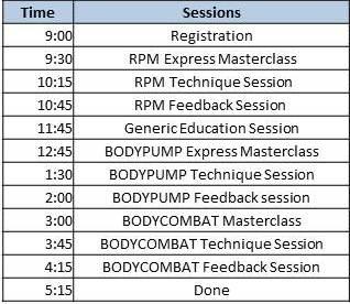 Cambridge GW Schedule