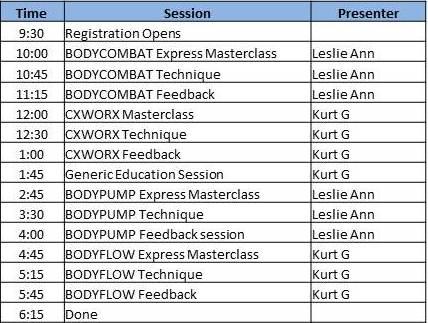 Culpeper GW schedule