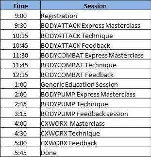 Jax GW Schedule