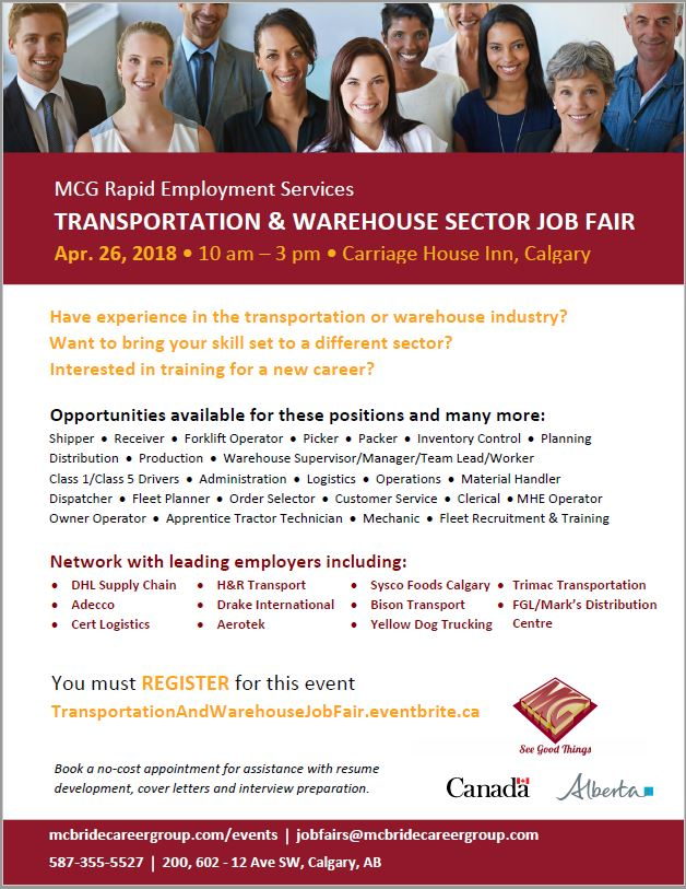 MCG Transportation & Warehouse Sector Job Fair