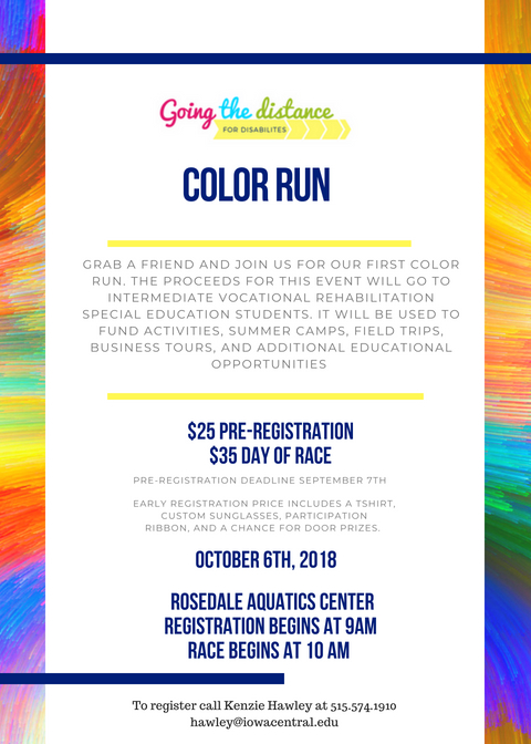 Color Run 2018 flyer