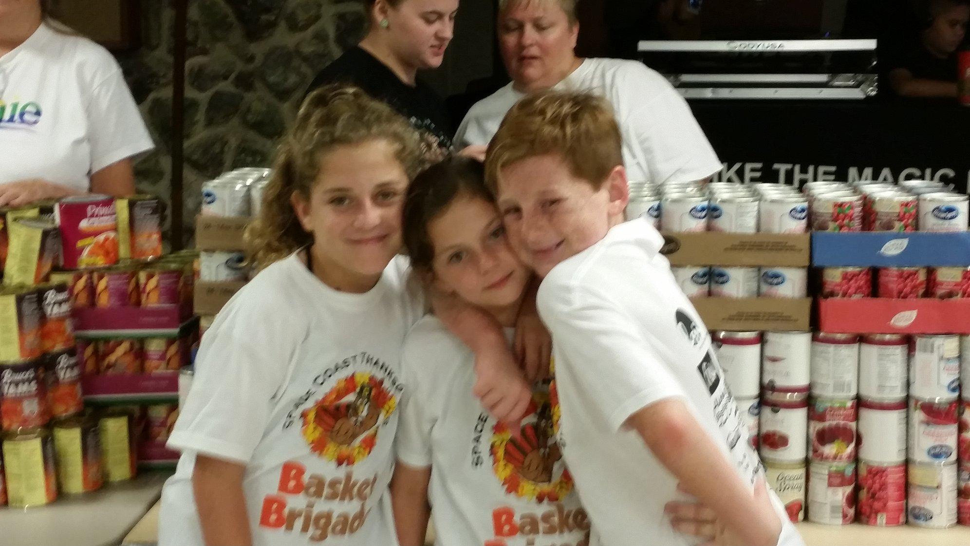 Space Coast Basket Brigade Thanksgiving Baskets 2015 - Thurn Kids