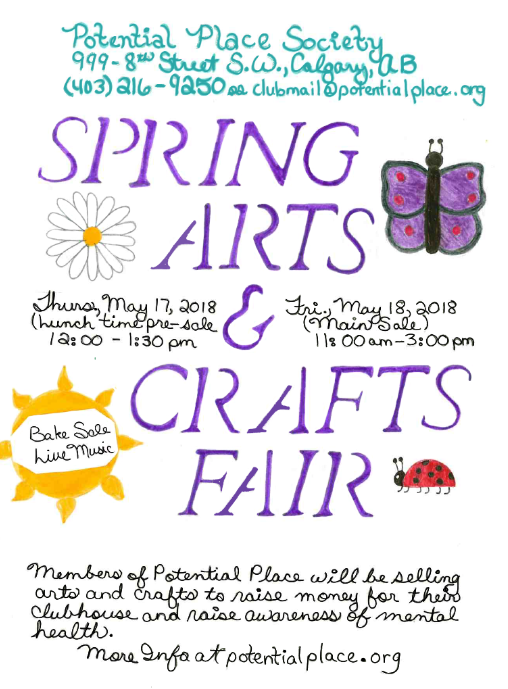 Spring Arts & Crafts Event Poster