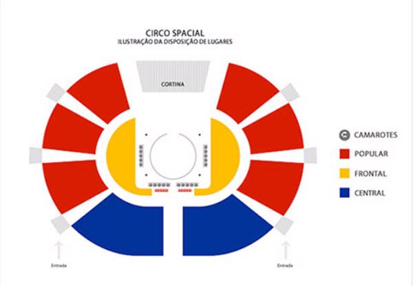 Mapa de assentos Circo Spacial