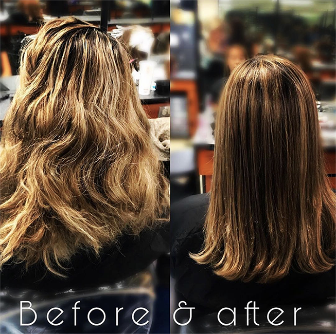 An example of the work done by students at Emily's Salon