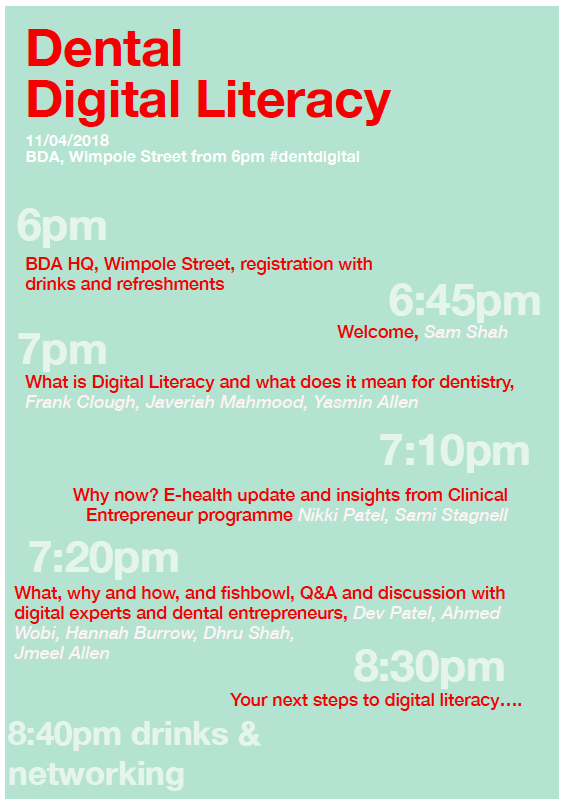 Dental Digital Literacy Event Agenda