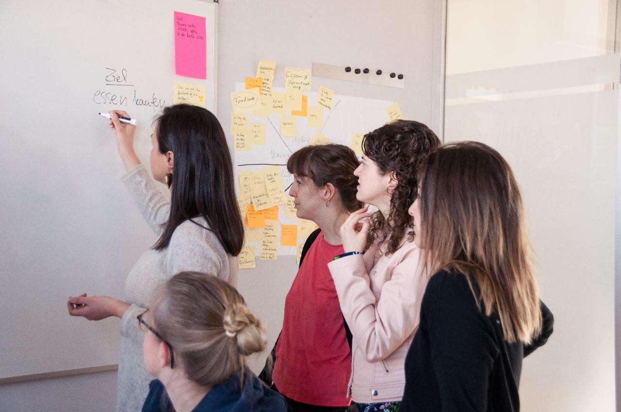 Ideas de desarrollo del modelo de negocio con un design sprint.