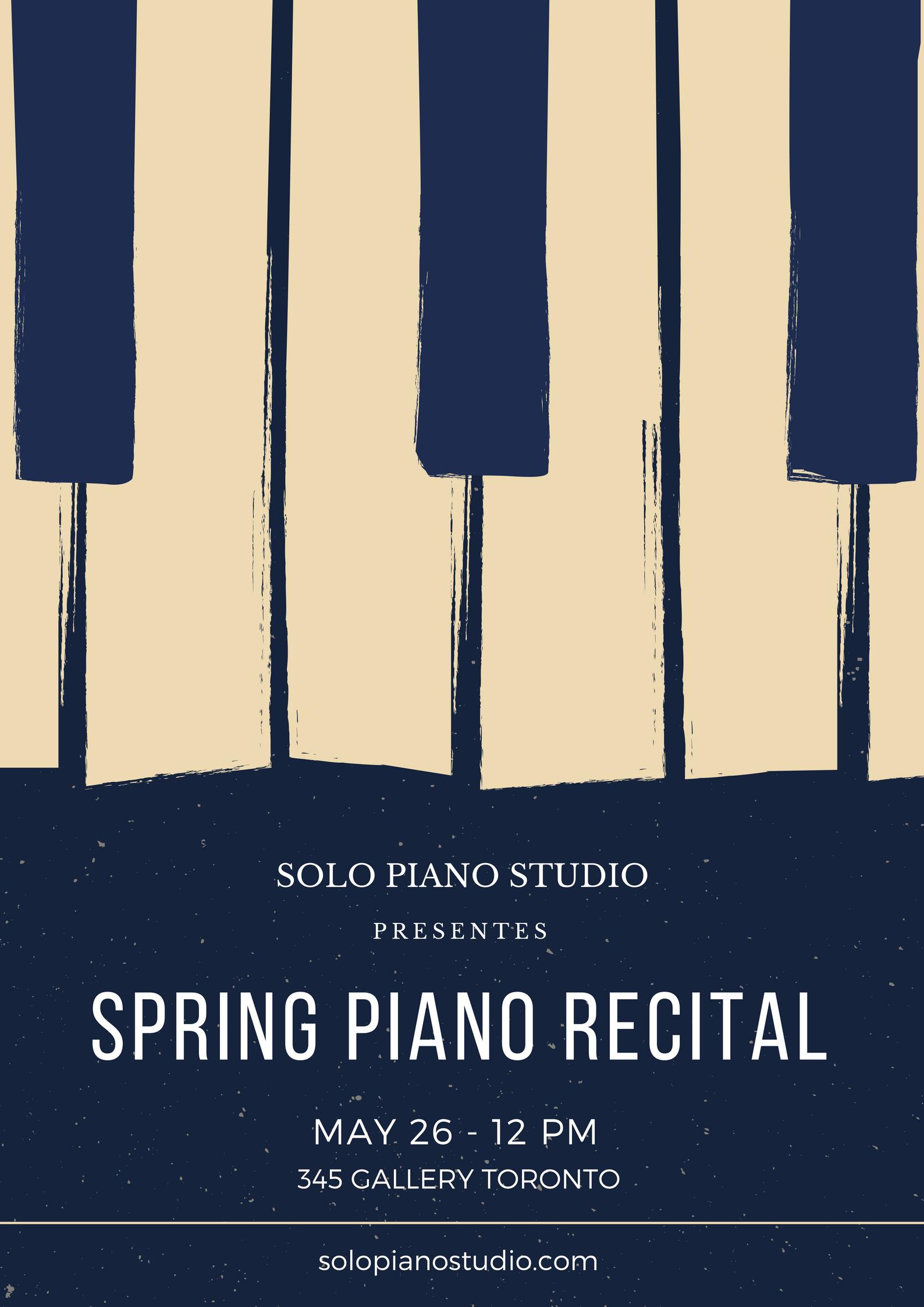 Spring Piano Recital Poster