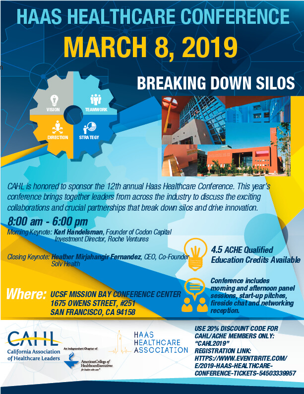 2019 Haas Healthcare Conference: Breaking Down Silos