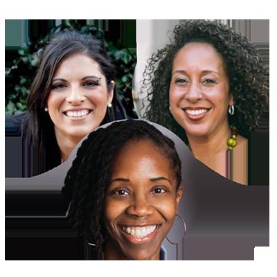Headshot of three keynote presenters