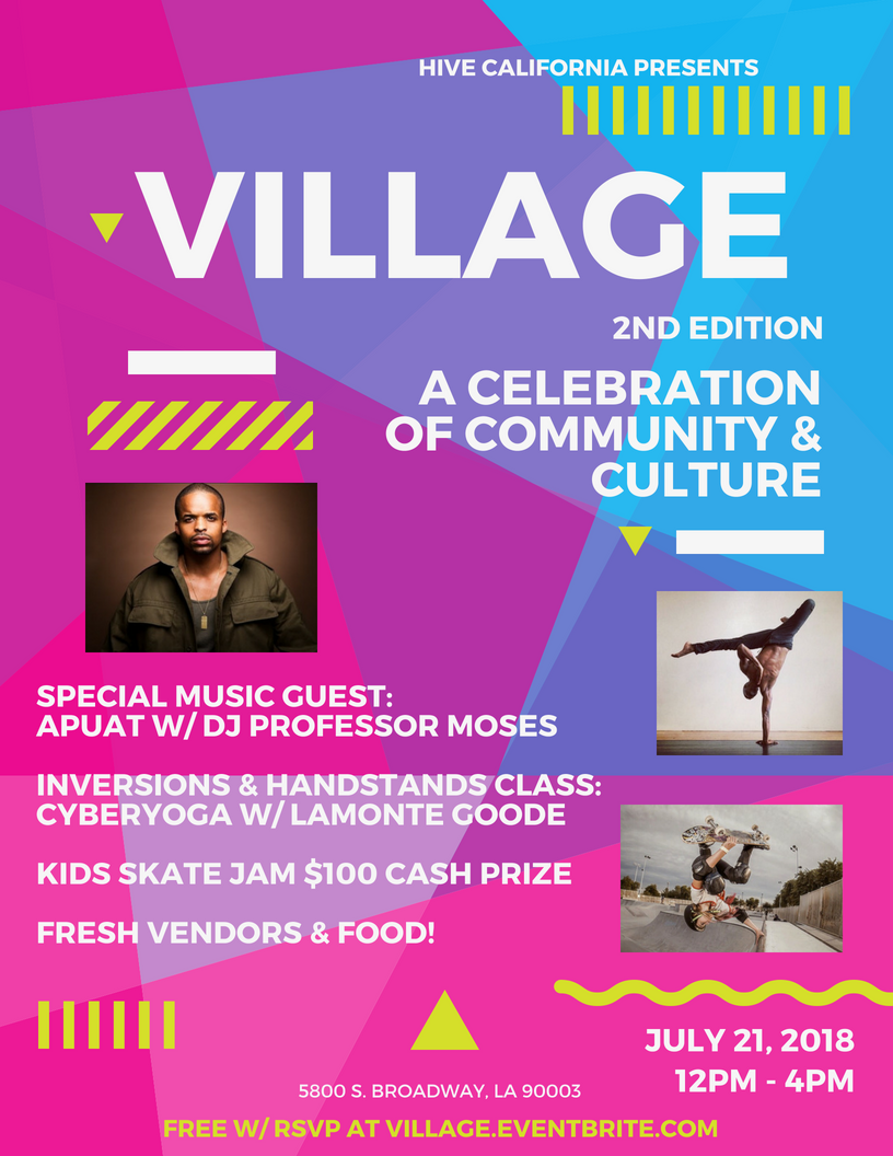 village at hive california a celebration of community and culture