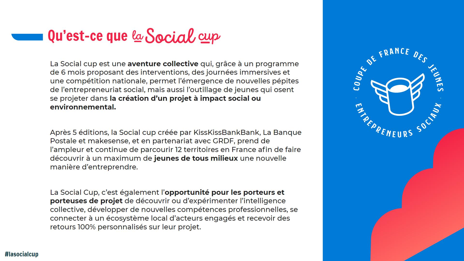La coupe de France des jeunes entrepreneurs sociaux