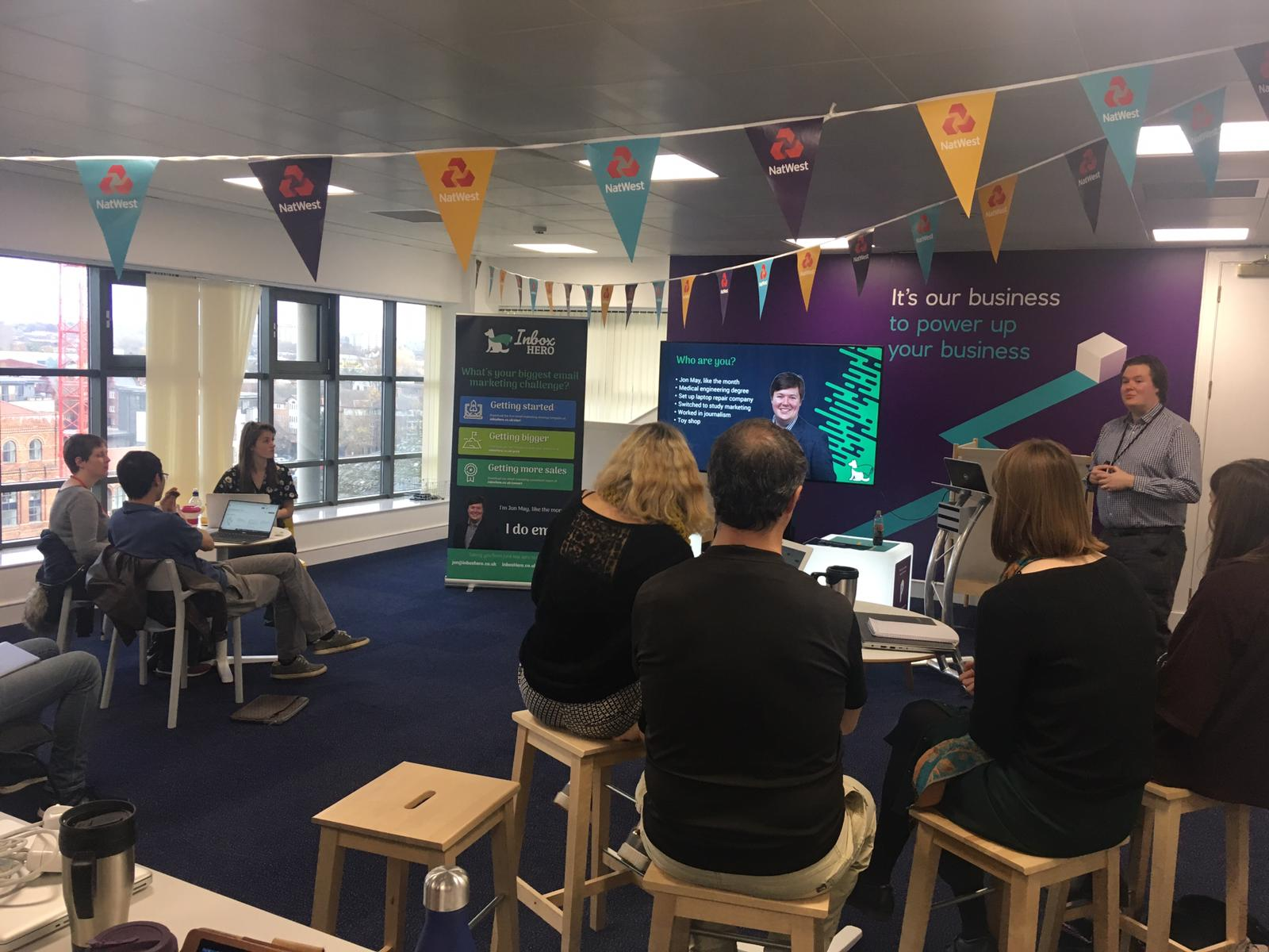 A workshop with 40 businesses at the NatWest Business Entrepreneurship Accelerator