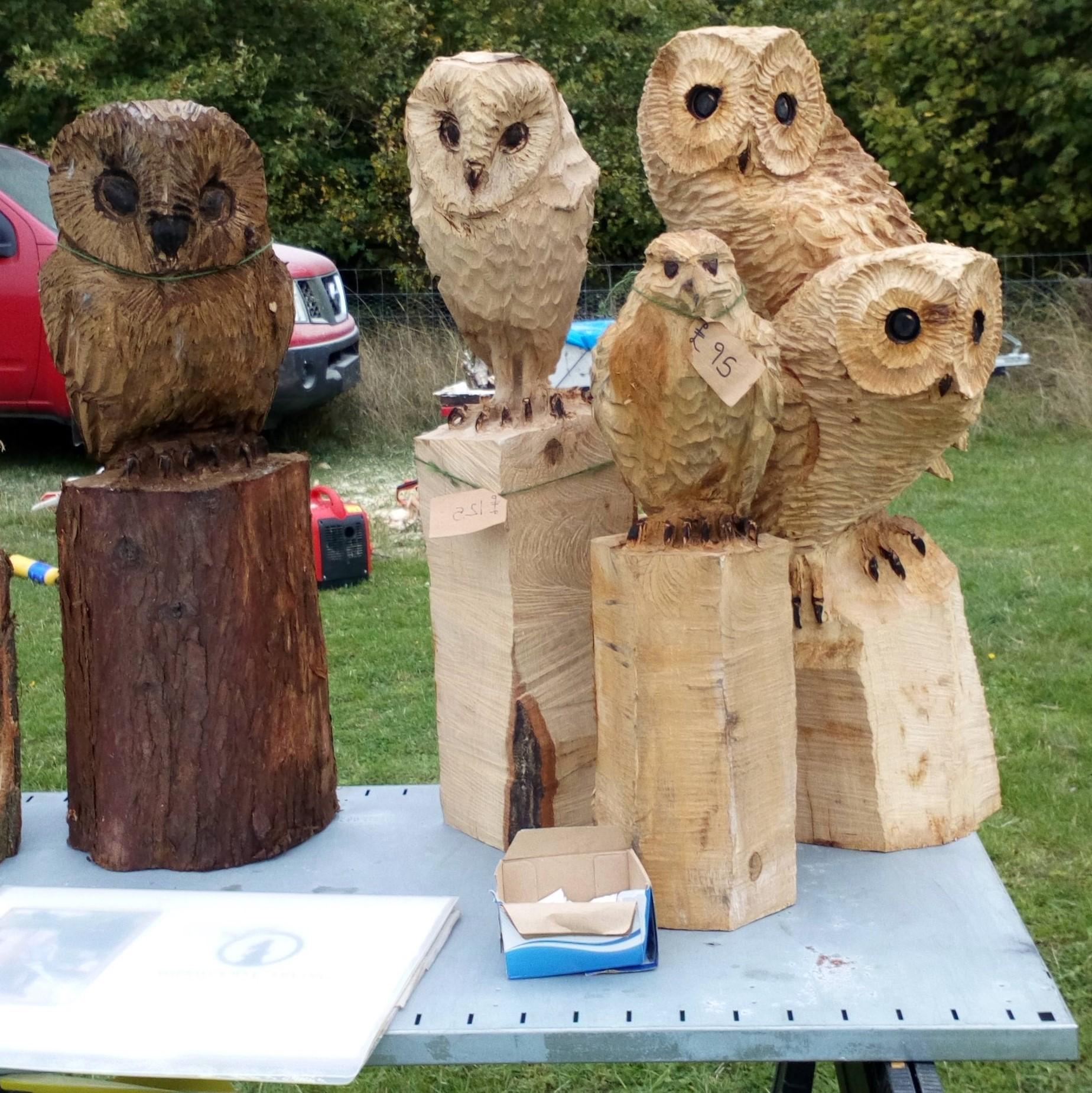 Carved owls