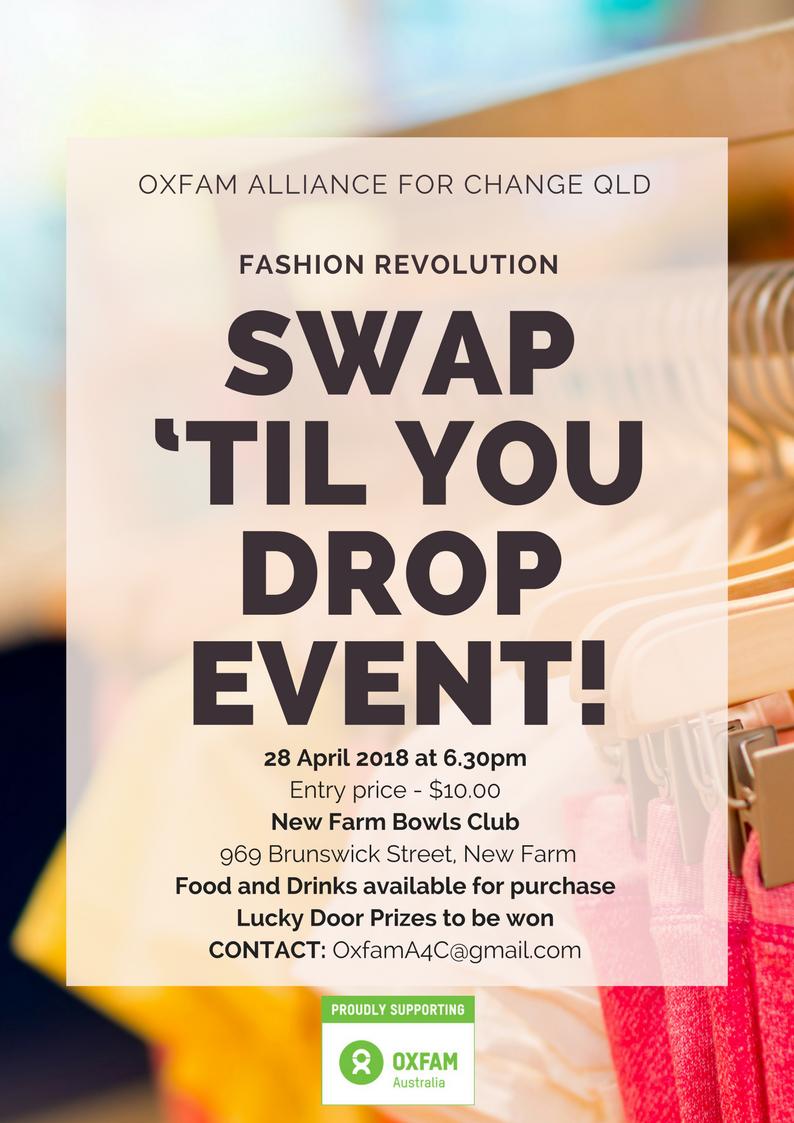 Oxfam Swap 'Til You Drop Event Details