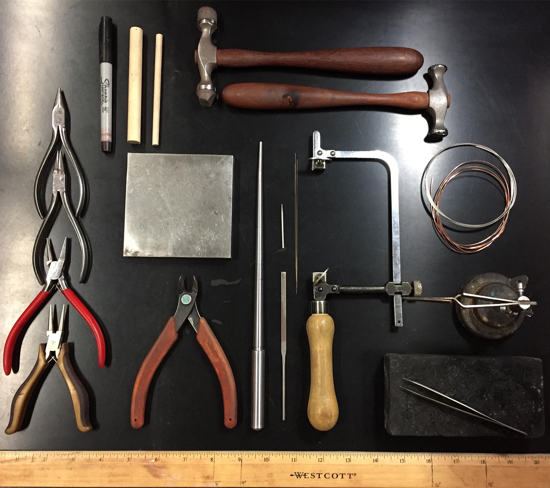 Tools for Argentium Silver Earrings Class
