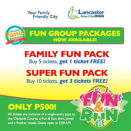 group packages for Fun & Run