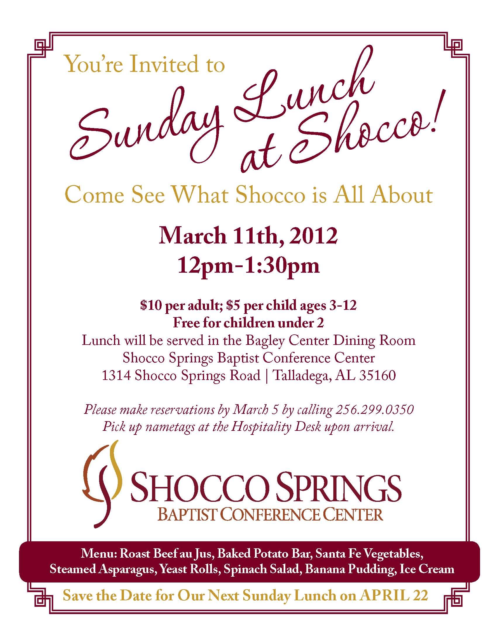 Sunday Lunch 03-12