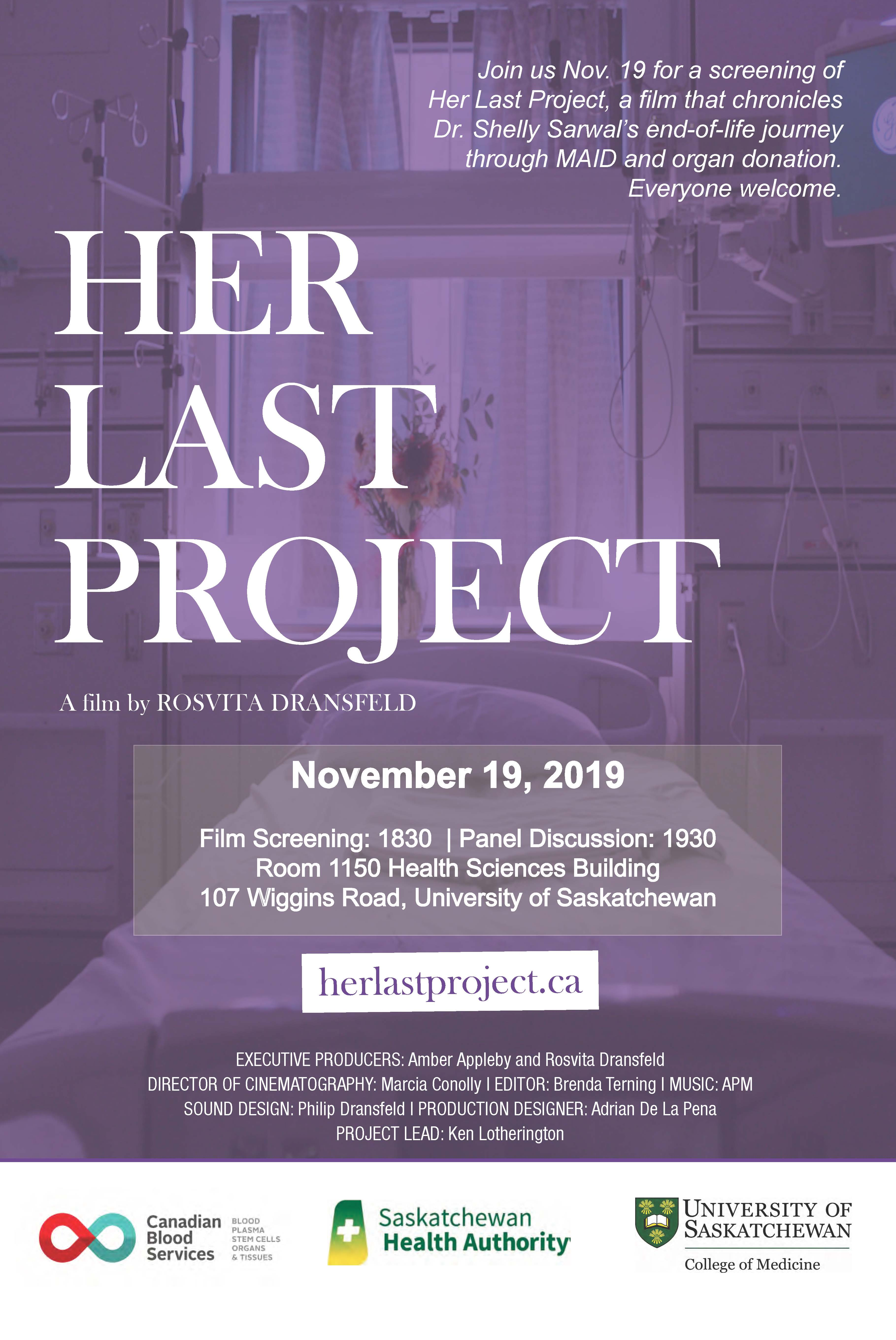 her last project poster sk