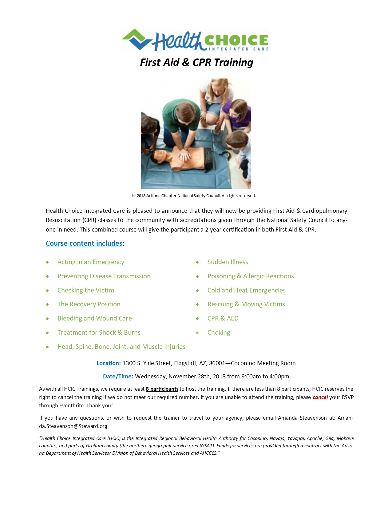 First Aid Cpr Training National Safety Council 2 Year