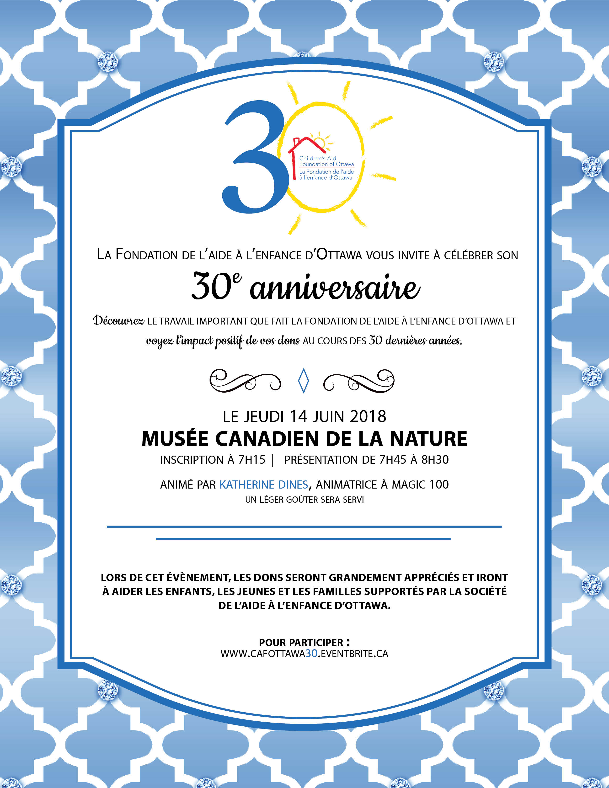 Invitation au 30e anniversaire