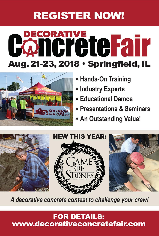 Flyer for the Decorative Concrete Fair
