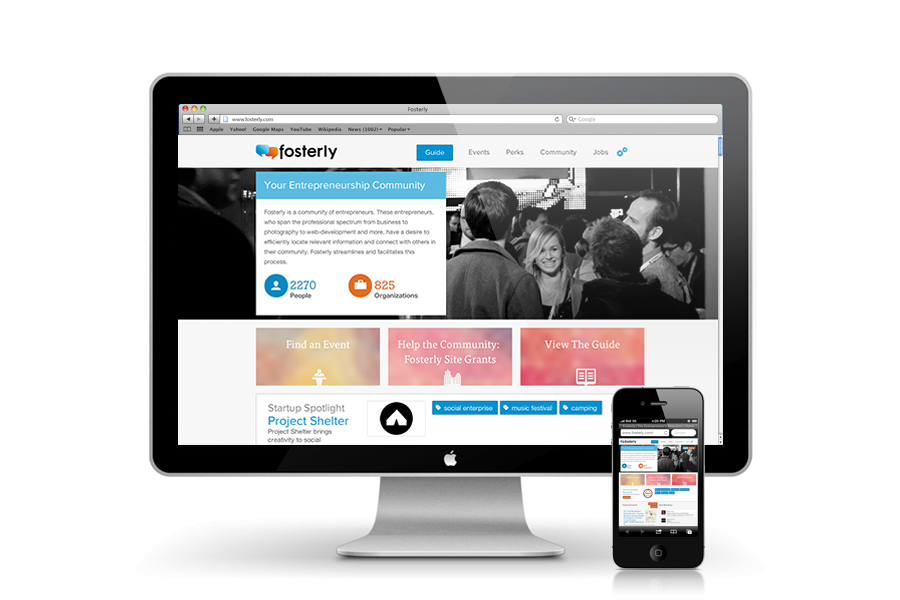 Fosterly provides resources for entrepreneur's online and offline