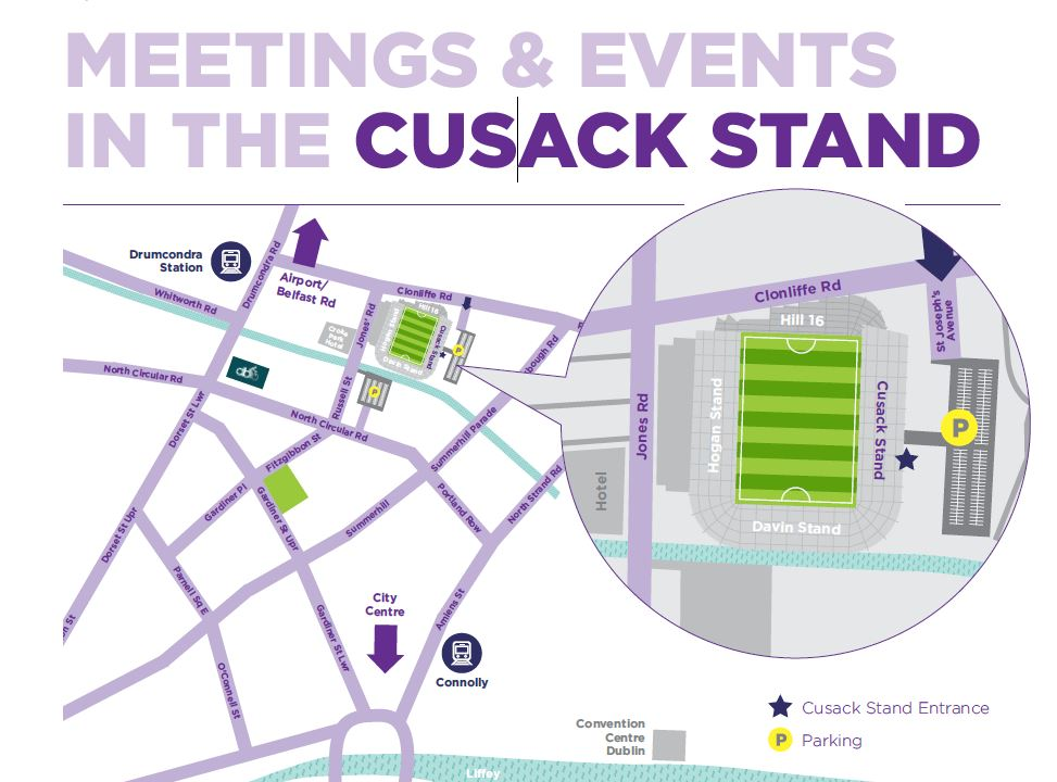 Map of Cusack Stand Entrance
