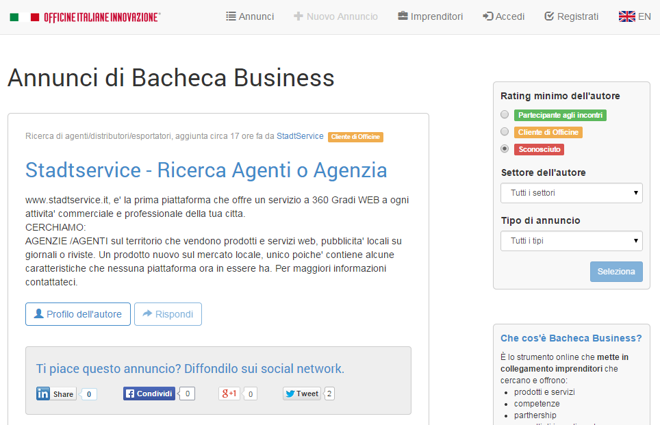 Bacheca Business screenshot