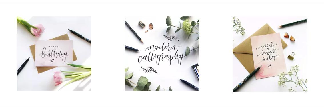 Lettering / Modern Calligraphy / Moodbilder